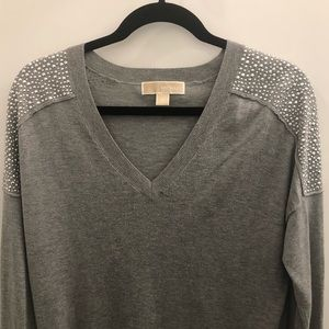 MICHAEL Michael Kors Sweaters - Michael Kors Embellished Shoulder Sweater